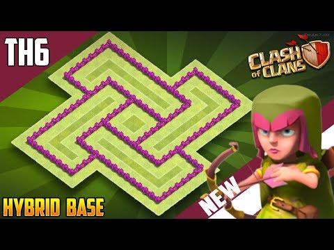 New INSANE Town Hall 6 [TH6] HYBRID Base 2018!! COC BEST Th6 Hybrid Base Design - Clash Of Clans