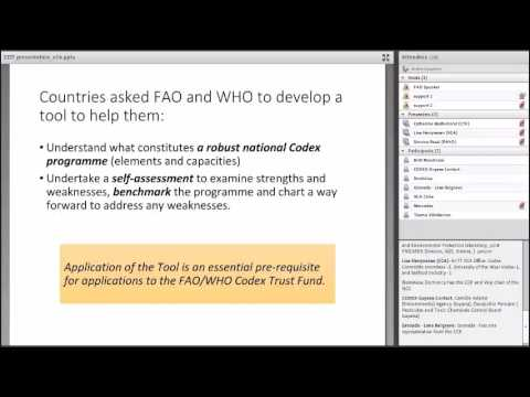 Making best use of the FAO/WHO Codex Diagnostic Tool - Webinar/Seminar