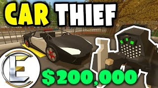 Stolen $200,000 Police SUPERCAR | Unturned Car Thief RP - I stole a police Lamborghini (Roleplay)