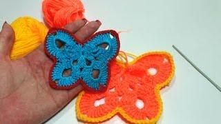 Вязание мотива в форме бабочки крючком. МАСТЕР-КЛАСС