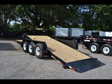 7x24 PJ Trailers Equipment Trailer - Tilt Deck