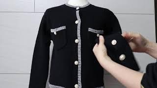 루시/소매 진주단추 포인트 가디건/코코썬 의류쇼핑몰