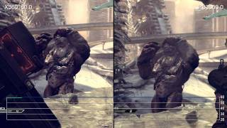 RAGE Shooting 360/PS3 Frame-Rate Comparison