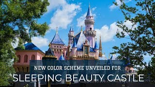 FIRST LOOK: Sleeping Beauty Castle with New Color Scheme - Dis…