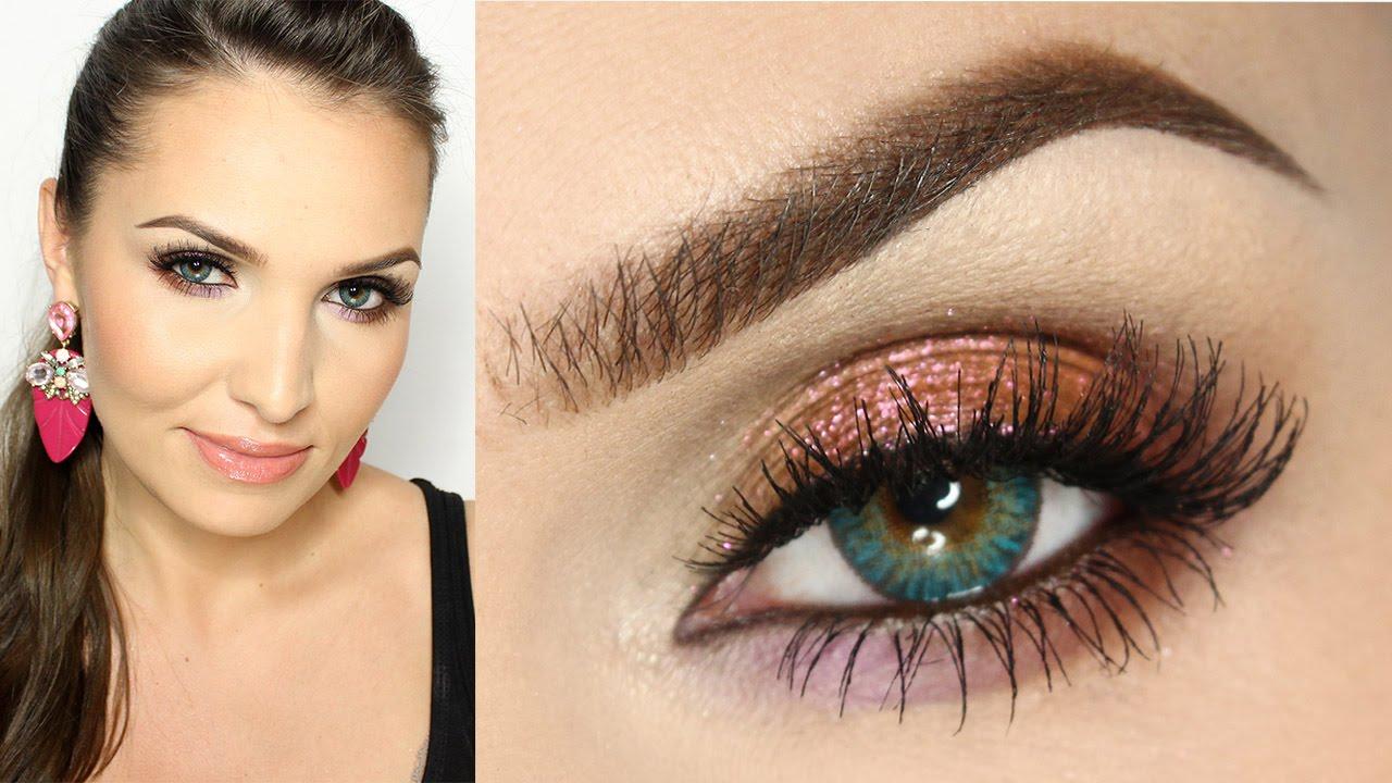 Makijaż Dla Niebieskich Oczu Sparkling Copper Youtube