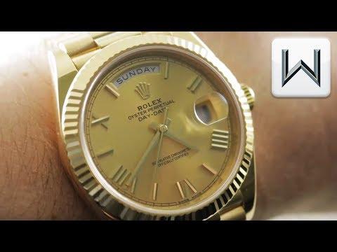 Rolex Day-Date 40 Gold Sunburst(228238) Luxury Watch Review