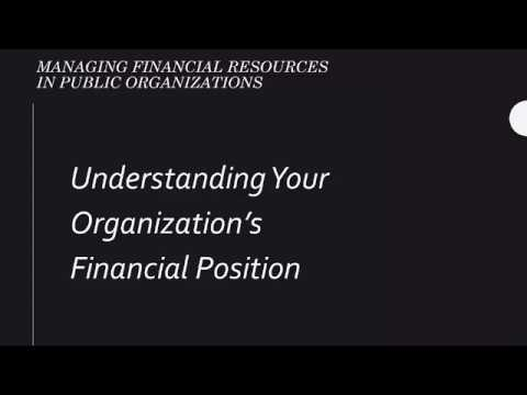 Financial Position Basics - Public Sector