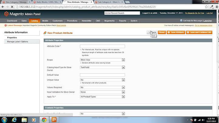 magento admin panel video tutorial  advanced catalog management