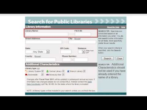 Best Online Search of Public Libraries in Your Region