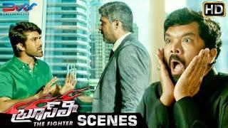 Ram Charan Traps Sampath Raj | Bruce Lee The Fighter Telugu Movie Scenes | Rakul Preet | Ali