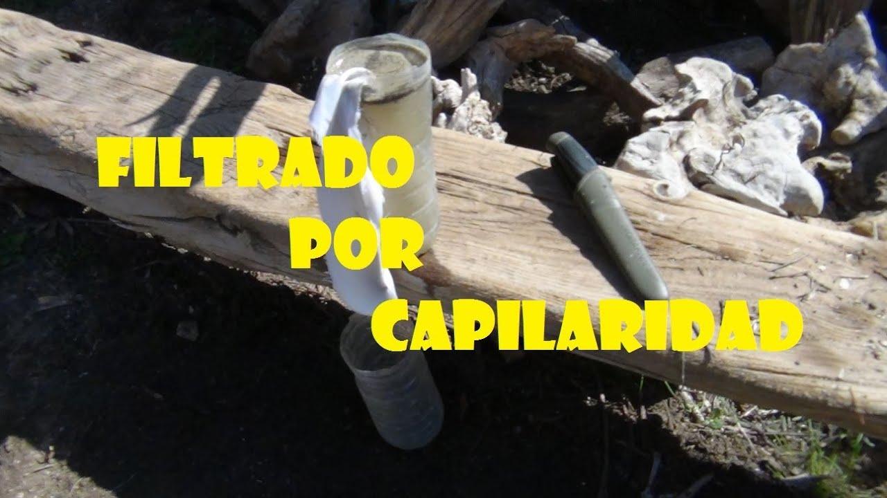 Supervivencia filtrado de agua por capilaridad youtube - Filtrado de agua ...
