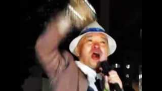 Japanese Samurai Anti-nuclear protest US embassy Tokyo