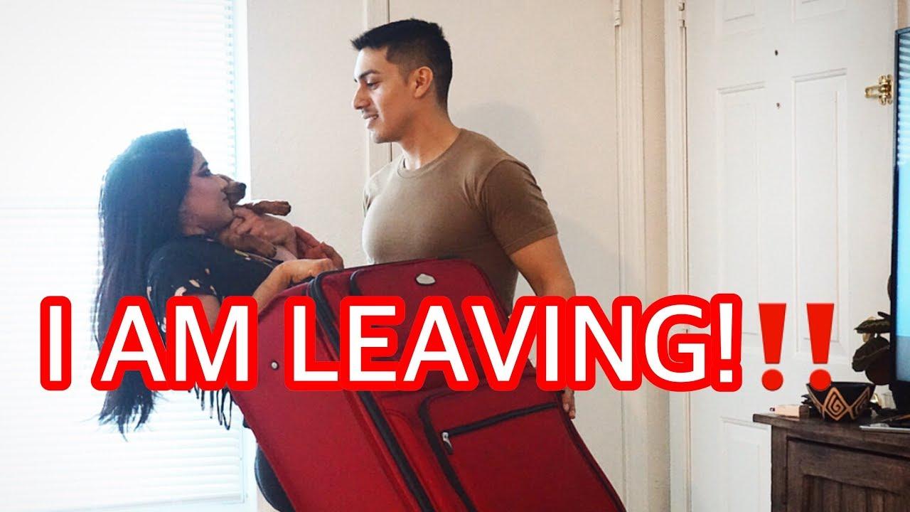 I AM LEAVING PRANK ON HUSBAND   Military Wife - YouTube