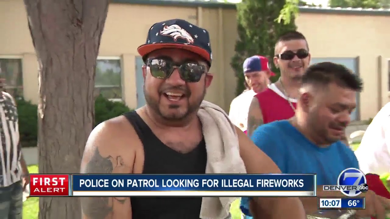 Illegal Fireworks Light Up Night Sky Above Denver Metro Area