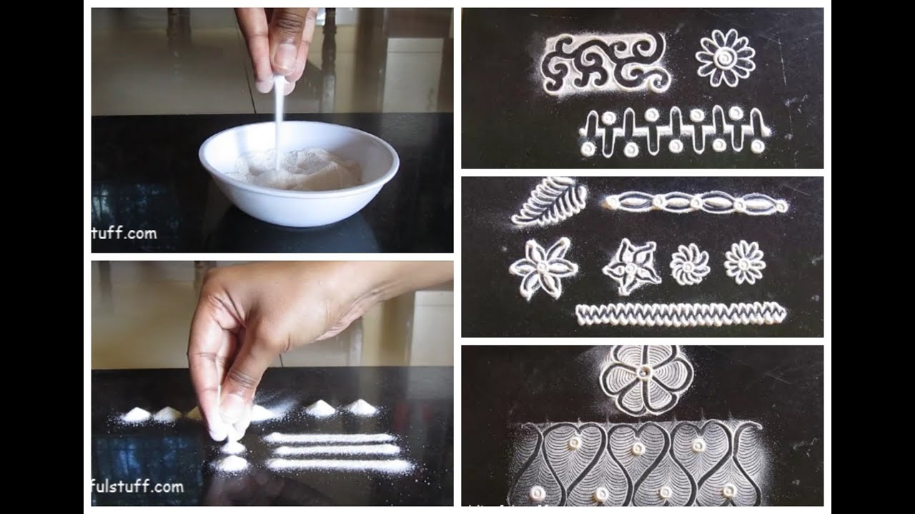 Rangoli basic techniques and innovative rangoli patterns | Poonam Borkar rangoli #1