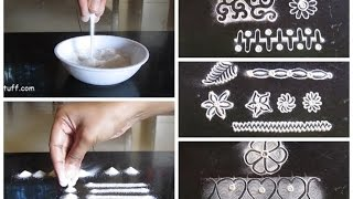 Rangoli basic techniques and innovative rangoli patterns | Poonam Borkar rangoli