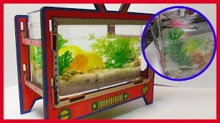 진짜 물고기가 살아 숨 쉬는 듯한 옛날 티비 어항 만들…