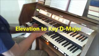 Sweet Hour of Prayer - ORGAN with 3 Key Changes †