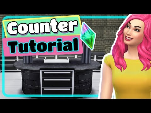The Sims 4 Custom Counters and Cabinets Tutorial