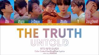 Cover images BTS - The Truth Untold (Feat. Steve Aoki) (Color Coded Lyrics Eng/Rom/Han)