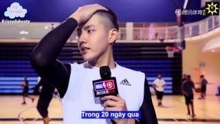 [Vietsub] 160214 NBA All Star Celebrity Game Practice with Kris Wu- Ngô Diệc Phàm