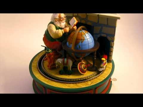 Santa Music Box - Motion Animated Globe and Train