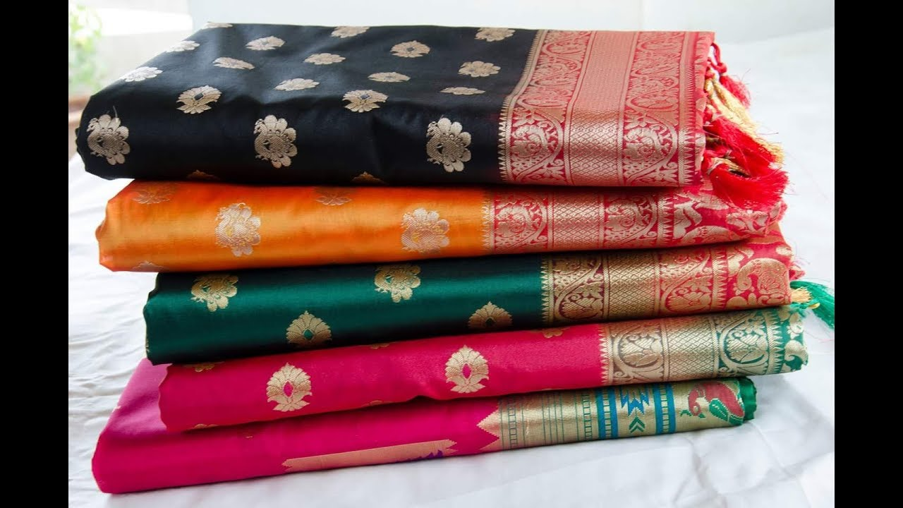 37b32c23a Top 50 Chanderi Saree Collection