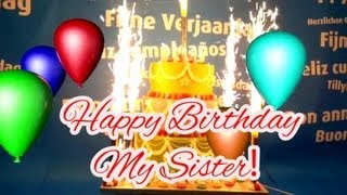 Happy Birthday Song For My Sister Youtube