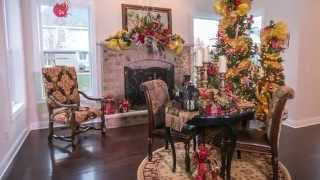 Model Home Christmas Decor | Holiday Design Overview