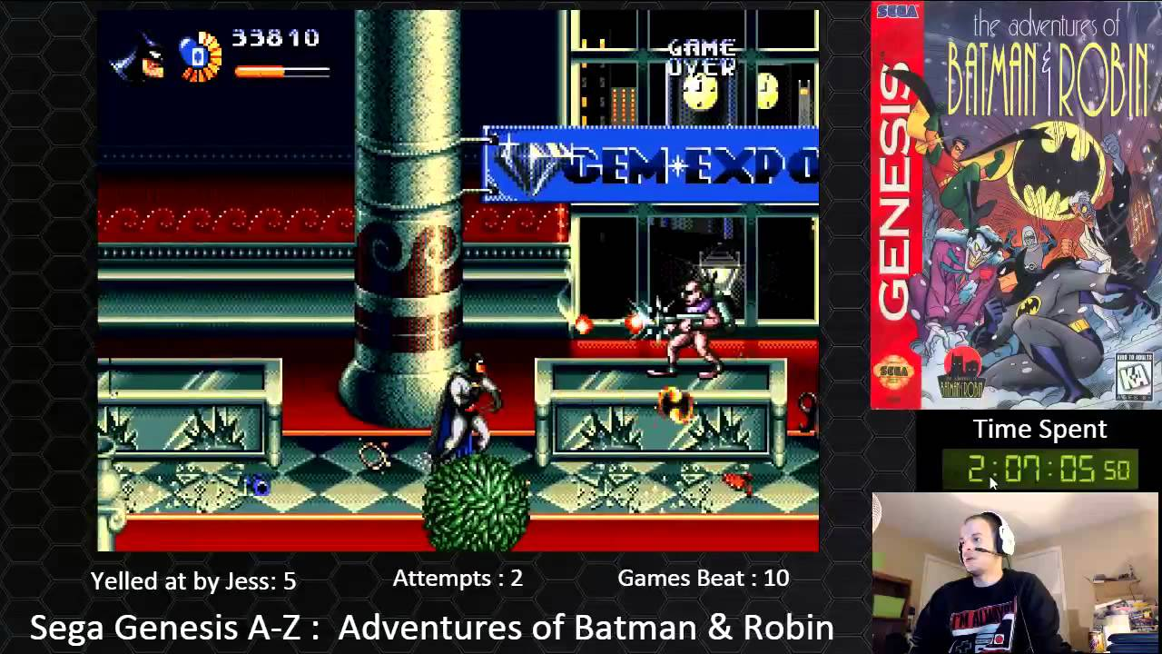 Sega Genesis A Z Adventures Of Batman Robin Journey