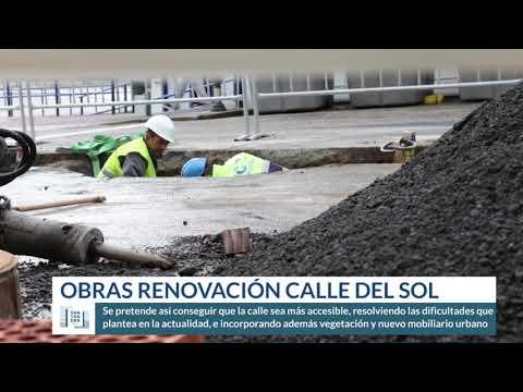 Obras renovación calle del Sol