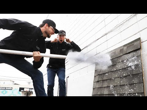 Simulated Hail Damage Test: Asphalt vs Slate vs Metal Roofing
