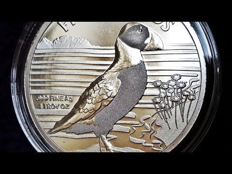2019 Alderney Puffin 1oz Silver Bullion Coin