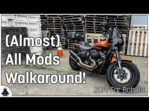 Walkaround of my 2019 Fat Bob FXFBS - Almost all mods are done!