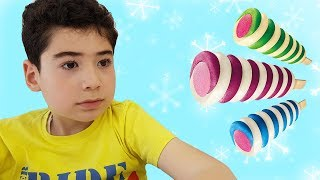 Kids made rainbow fruit Ice cream - for kids video