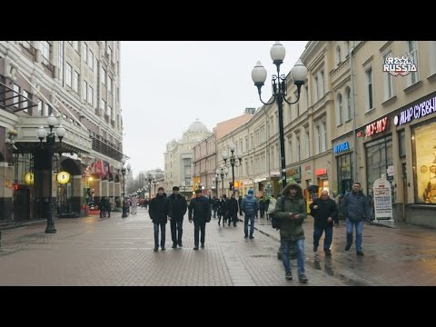 """Quick Walk by Old Arbat Street, Moscow. """"Real Russia"""" ep.125 (4K)"""