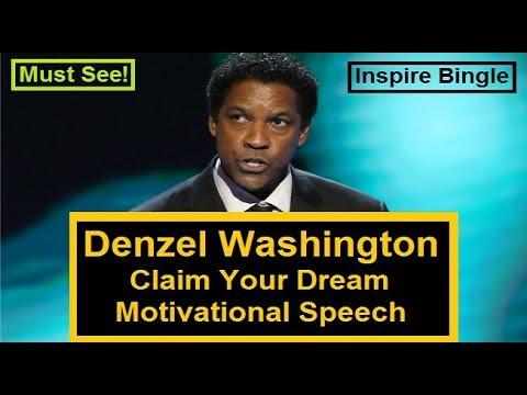 Denzel Washington Claim Your Dream Motivational Speech | Always Be Consistent