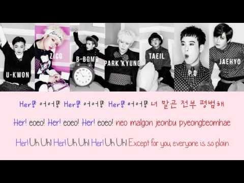 BLOCK B - HER {Color Coded Lyrics Han|Rom|Eng}