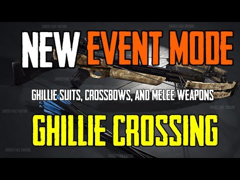 PUBG || NEW EVENT MODE || GHILLIE CROSSING || Ghillie Suits, Melee , Crossbows only