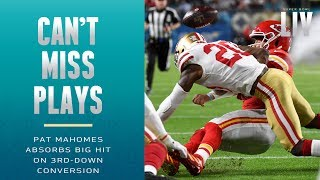 Mahomes Absorbs BIG Hit on 3rd-Down Conversion! | Super Bowl LIV