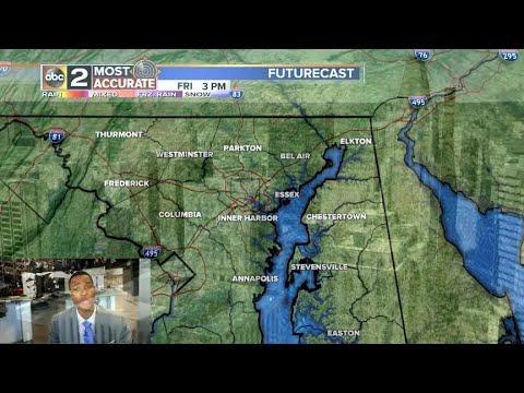Clouds& rain Return for Baltimore