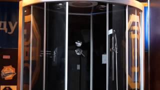 Душевая кабина EAGO DZ949F8 (F7) черная(закрытая кабина, полностенная, четверть круга, материал поддона: акрил, материал стенок: стекло, турецкая..., 2014-07-22T03:28:06.000Z)