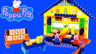 Peppa Pig School Mega Blocks Construction Set - Peppa Pig Toys Episodes English