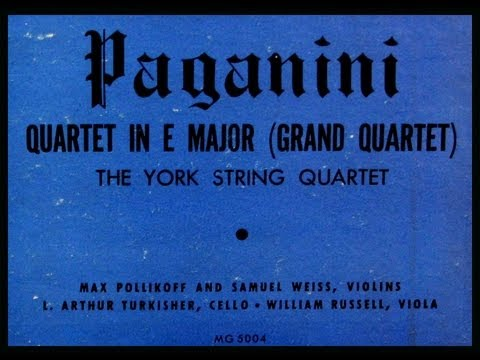 Paganini / New York String Quartet, 1949: Quartet in E Major (