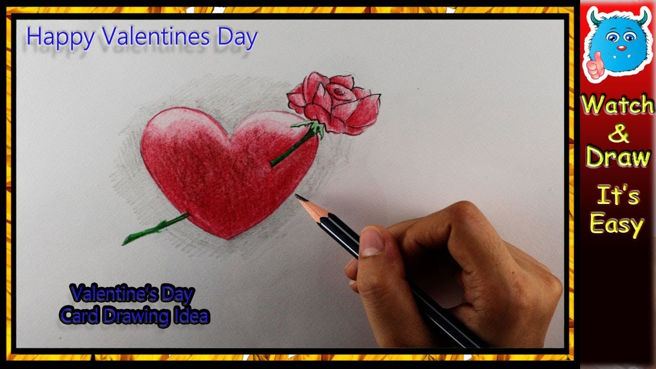 How To Draw A Heart For Valentine Crafts Cards Easy Valentines
