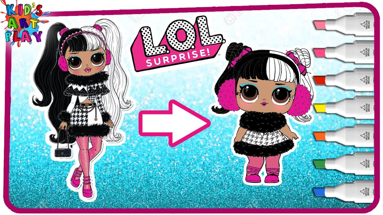 coloring little dollie - lol surprise omg dollie became