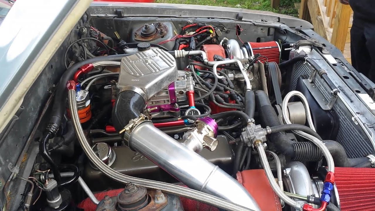 maxresdefault 88 foxbody mustang twin turbo blow thru carb idle youtube