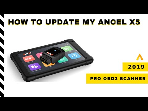 🎦How To Update My Ancel X5   OBD2 Scanner