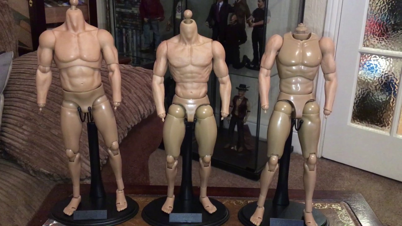 """1//6 Scale ZC TOYS Muscular Action Figure Male Body Fit 12/"""" Hot Toys Head Sculpt"""