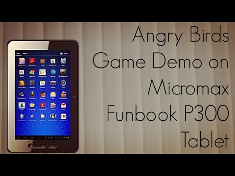 Angry Birds Game Demo on Micromax Funbook P300 Tablet Android 4.0 ICS - PhoneRadar